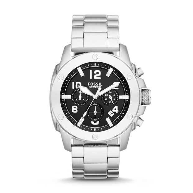 Modern Machine Chronograph Stainless Steel Watch