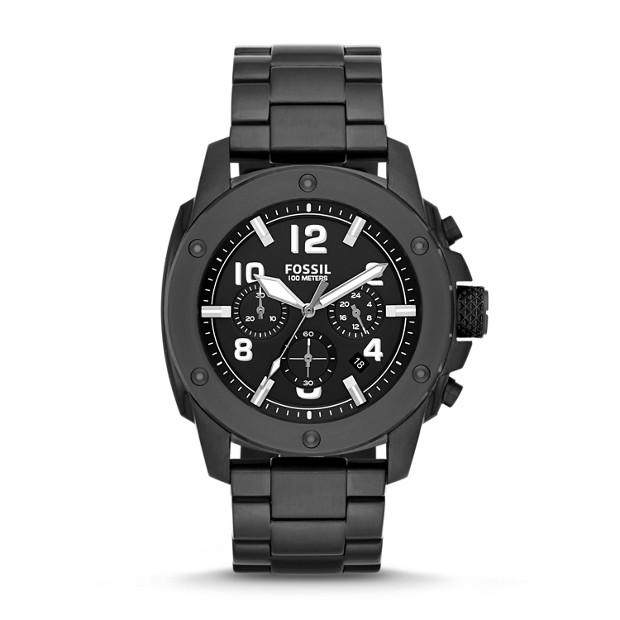Modern Machine Chronograph Black Stainless Steel Watch