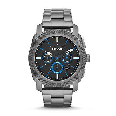 Montre Machine chronographe en acier inoxydable - Gris anthracite
