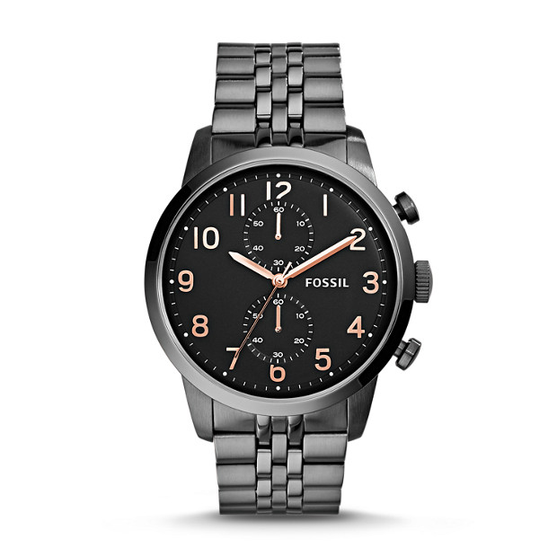 Townsman Chronograph Smoke Stainless Steel Watch