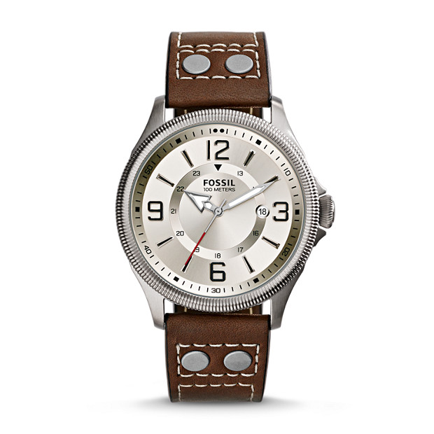 Recruiter Brown Leather Watch