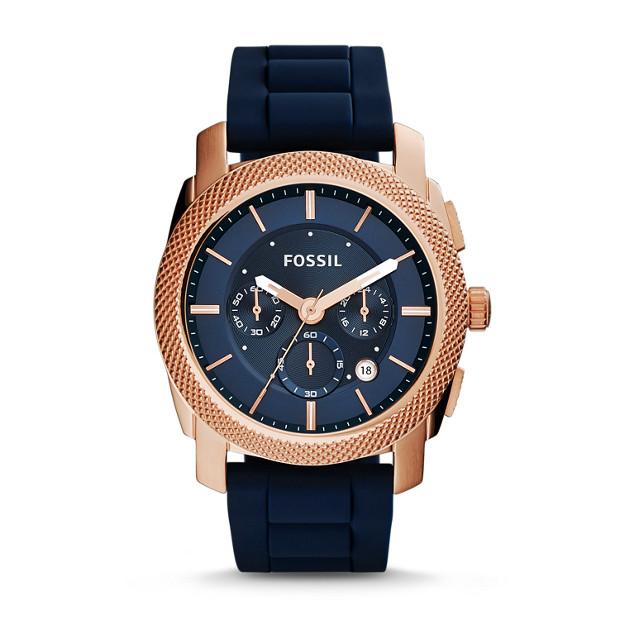 Machine Chronograph Navy Silicone Watch