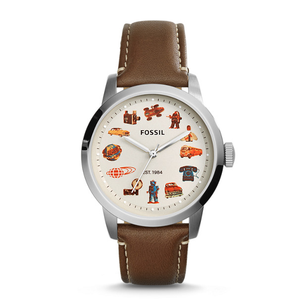 BEAMS X FOSSIL Townsman Three-Hand Leather Watch - Brown