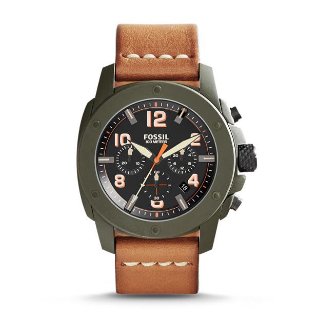 Modern Machine Chronograph Tan Leather Watch
