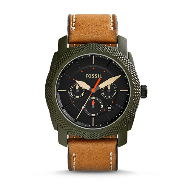 Machine Chronograph Tan Leather Watch
