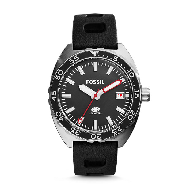 Breaker Black Silicone Watch