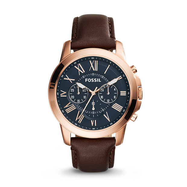 Grant Chronograph Brown Leather Watch