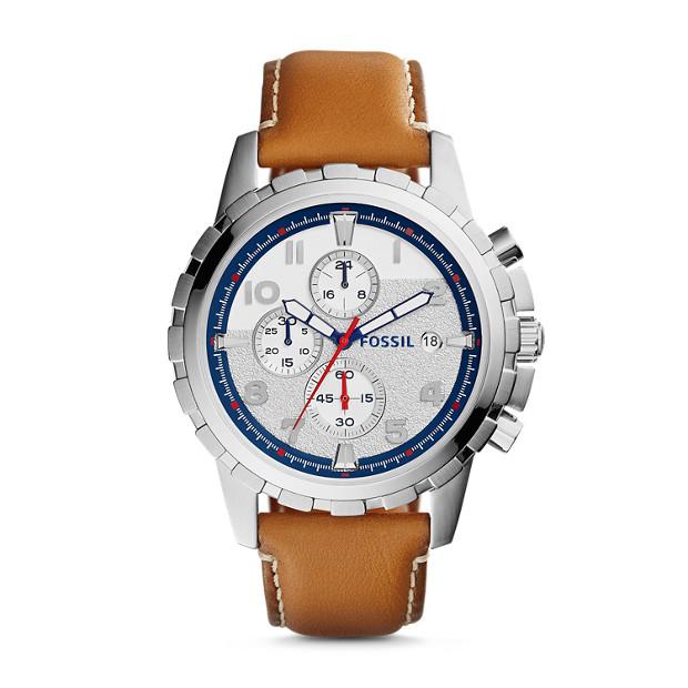 Dean Chronograph Tan Leather Watch