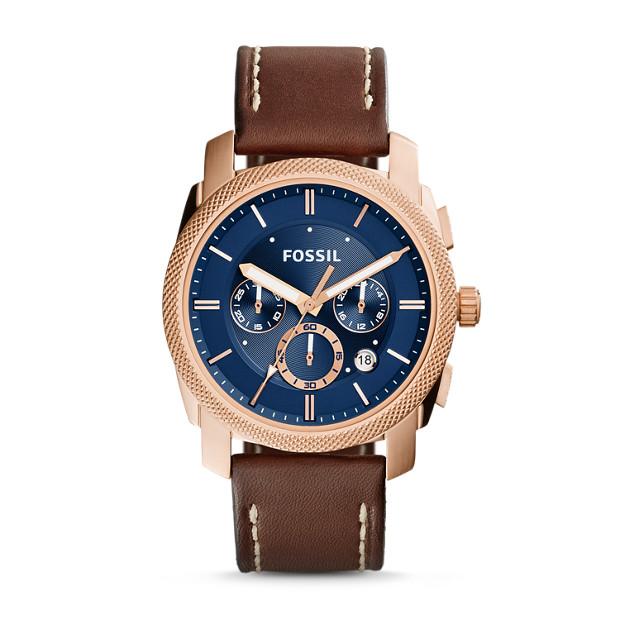 Montre Machine chronographe en cuir - Brun clair