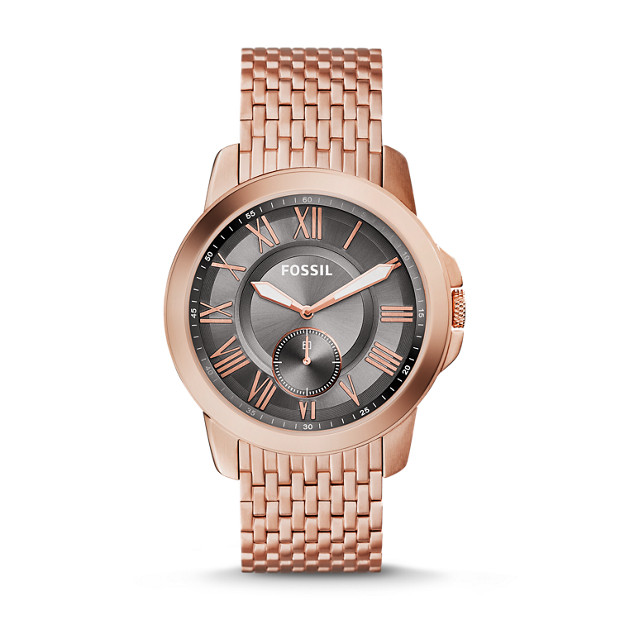 Grant Multifunction Rose-Tone Stainless Steel Watch