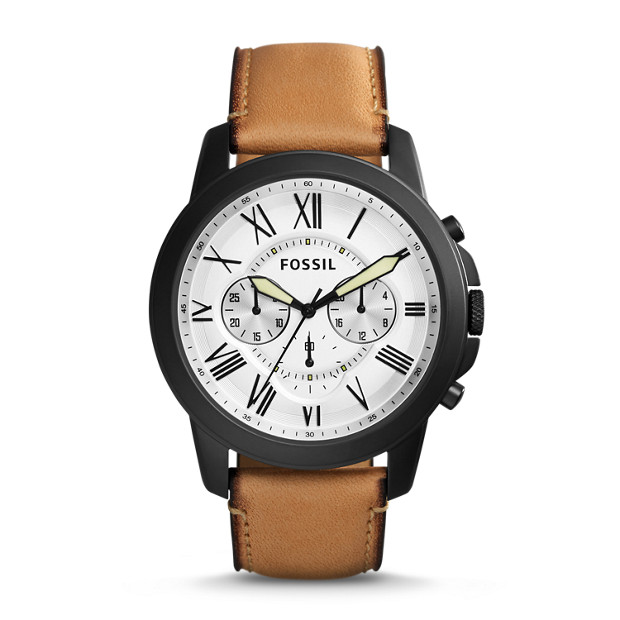 Grant Chronograph Vacchetta Leather Watch