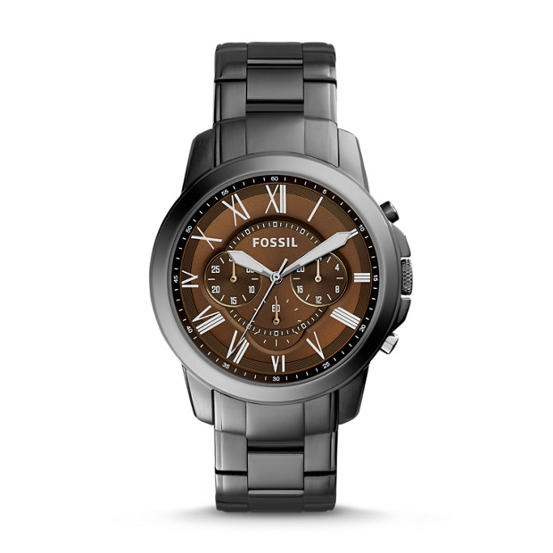 Grant Chronograph Smoke Stainless Steel Watch