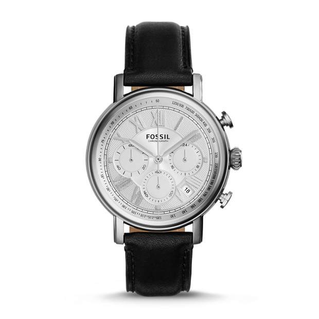 Buchanan Chronograph Black Leather Watch