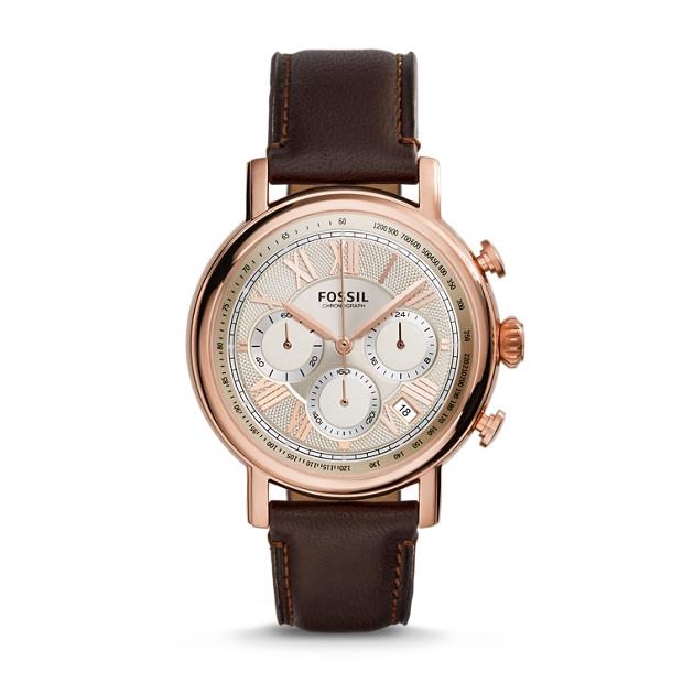 Buchanan Chronograph Brown Leather Watch