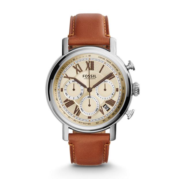 Buchanan Chronograph Light Brown Leather Watch