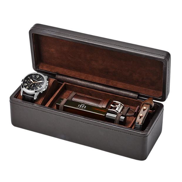 grant leather watch gift set fossil. Black Bedroom Furniture Sets. Home Design Ideas