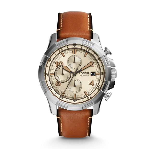 Dean Chronograph Light Brown Leather Watch
