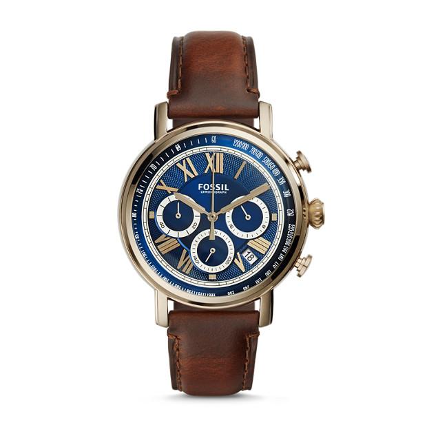 Buchanan Chronograph Dark Brown Leather Watch
