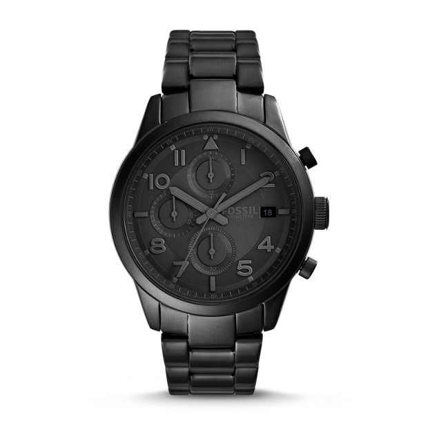 Daily Chronograph Black Stainless Steel Watch