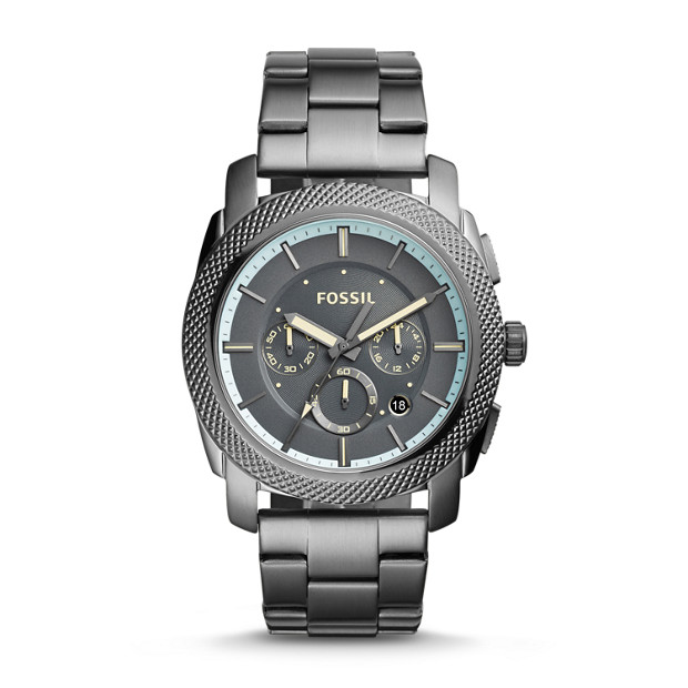 Machine Chronograph Gunmetal Stainless Steel Watch