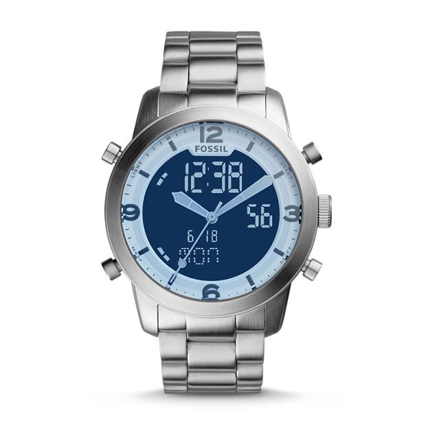 Pilot 54 Analog-Digital Stainless Steel Watch