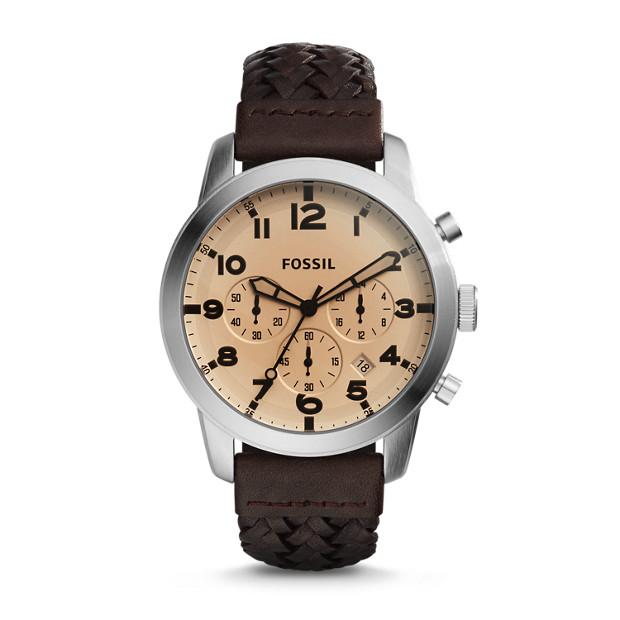 Pilot 54 Chronograph Dark Brown Leather Watch