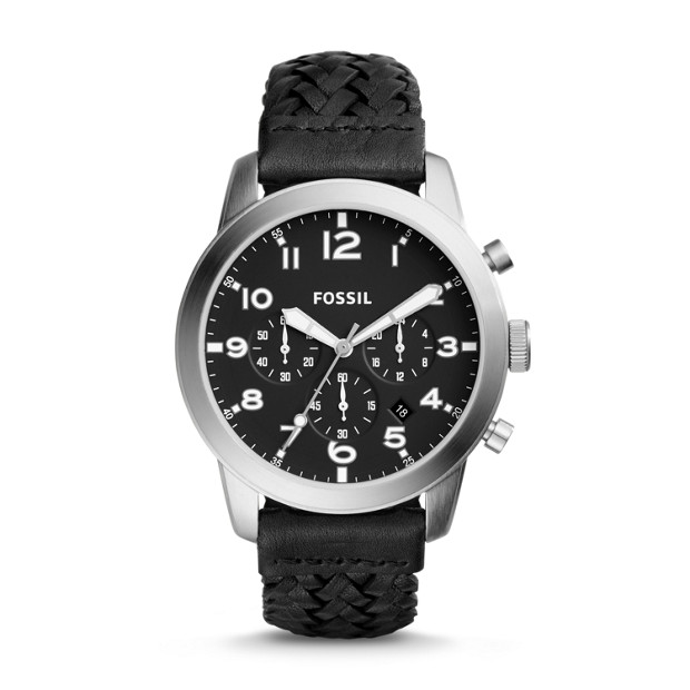 Pilot 54 Chronograph Black Leather Watch