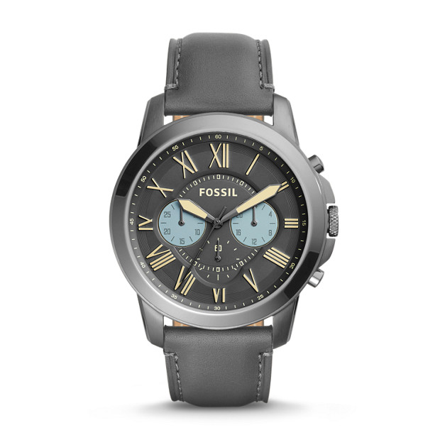 Grant Chronograph Gray Leather Watch