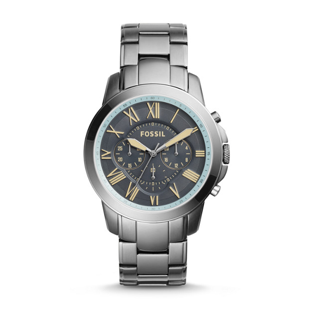 Grant Chronograph Gunmetal Stainless Steel Watch