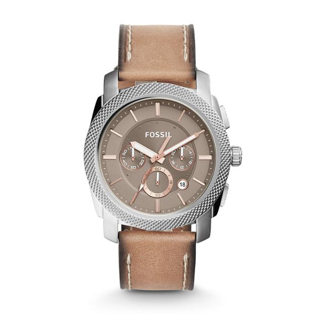 Machine Chronograph Light Brown Leather Watch