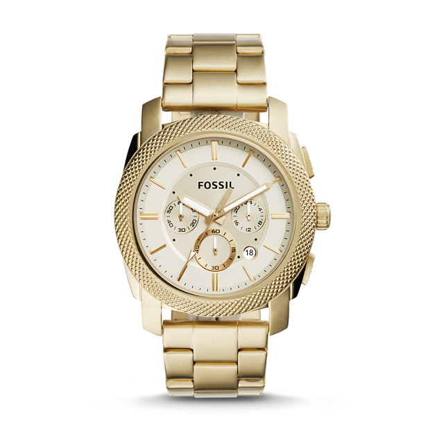 Machine Chronograph Gold-Tone Stainless Steel Watch