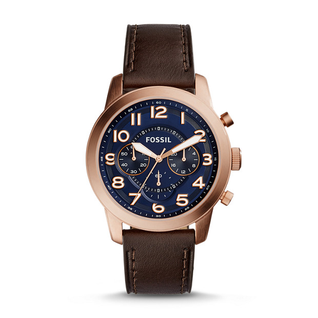 Pilot 54 Chronograph Dark Brown Leather Watch