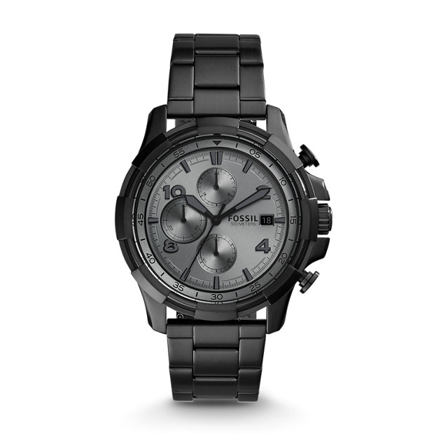 Dean Chronograph Black Stainless Steel Watch