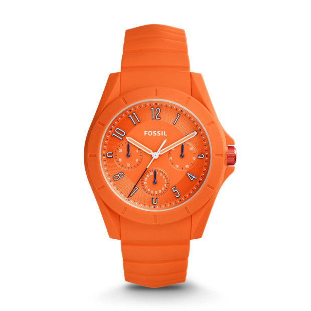 Poptastic Sport Multifunction Orange Silicone Watch