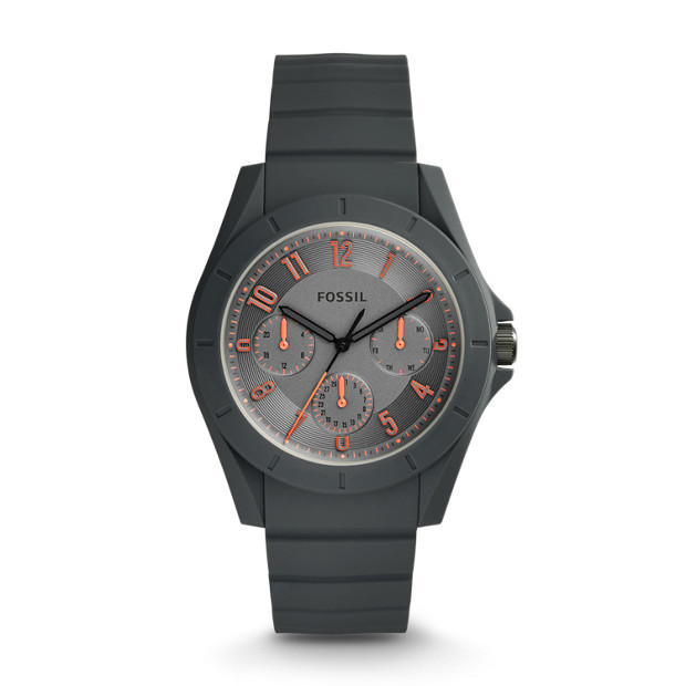 Poptastic Sport Multifunction Gray Silicone Watch