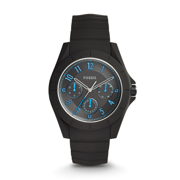 Poptastic Sport Multifunction Black Silicone Watch