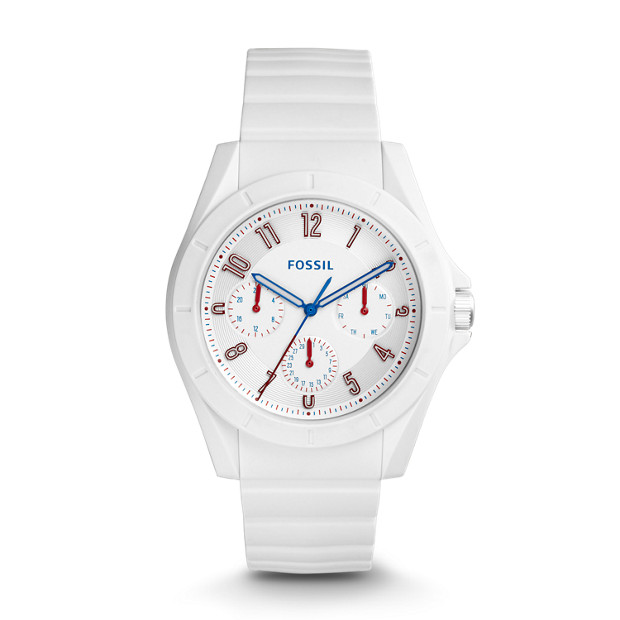 Poptastic Sport Multifunction White Silicone Watch