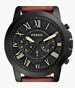 Grant Chronograph Luggage Leather Watch