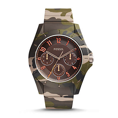 Poptastic Sport Multifunction Camo Silicone Watch