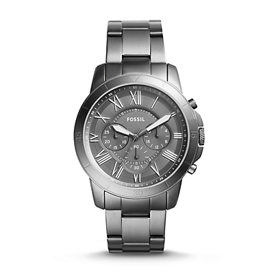 Grant Sport Chronograph Smoke Stainless Steel Watch