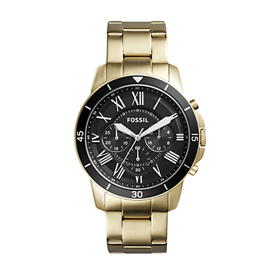 Grant Sport Chronograph Gold-Tone Stainless Steel Watch