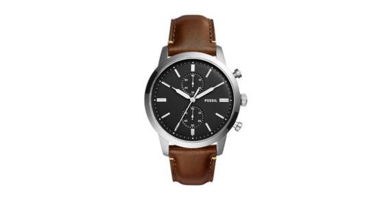 dd7ff55ac Townsman 44mm Chronograph Brown Watch - Fossil