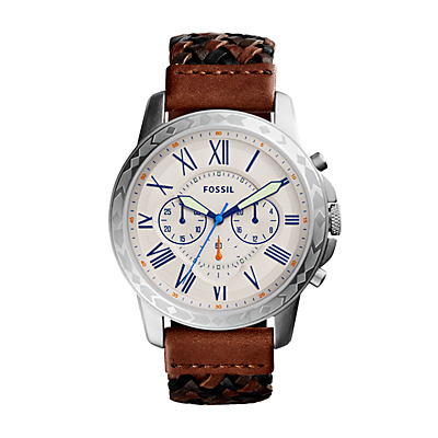Herrenuhr Grant - Chronograph - Leder