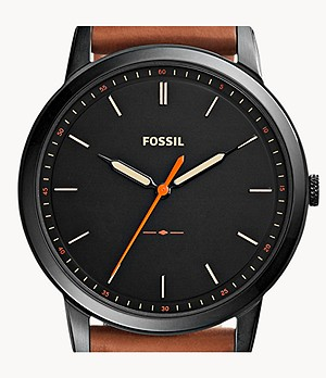 The Minimalist Slim Three-Hand Light Brown Leather Watch