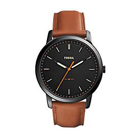 The Minimalist Slim Three-Hand Light Brown Leather Watch