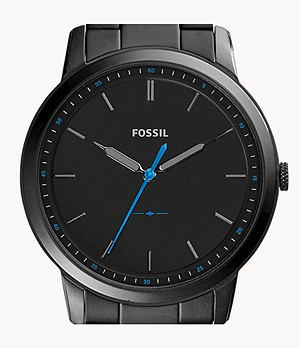 The Minimalist Slim Three-Hand Black Stainless Steel Watch