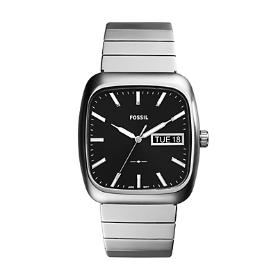 Rutherford Three-Hand Day-Date Stainless Steel Watch