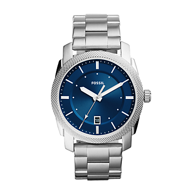 Machine Three-Hand Date Stainless Steel Watch