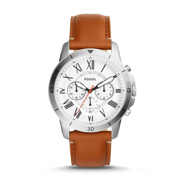 Fossil - Grant Sport Chronograph Tan Leather Watch - 1