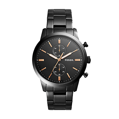 Townsman 44 mm Chronograph Black Stainless Steel Watch